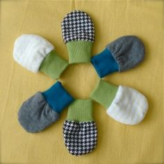 Super cute and comfy baby mittens tutorial. Quick and easy!