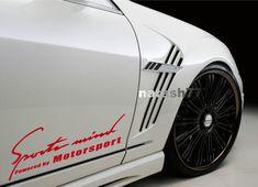 Sports mind Powered by Motorsport car Vinyl Decal sticker logo RED (Fits: BMW #natash777