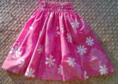 A girl's sweet pink hula pa'u hula skirt by SewMeHawaii on Etsy
