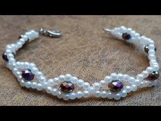 Easy Pearls and Crystal Bracelet . Necklace Tutorial, Diy Necklace, Collar Necklace, Diy Bracelets Easy, Handmade Bracelets, Crystal Bracelets, Bangle Bracelets, Crystal Jewelry, Silver Jewelry
