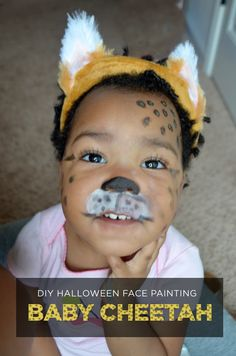 My little lady is the cutest baby cheetah on the planet, but if you want to give her some competition, check out this tutorial to turn your little one into a cheetah with Halloween makeup from @walmart . #wmtmoms