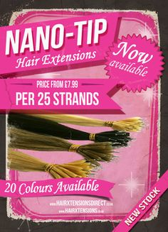 """Nano Tip 100% Human Hair Extensions Now In Stock!  Nano rings are 90% smaller and less visible than standard micro rings.  Available in 14"""", 18"""", 20"""" and 22"""" lengths in 20 various colour tones.  https://www.hairxtensions.co.uk/store/osc/Nano-Tip.html  #nanotip #nano #nanohairextensions #nanorings"""