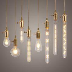 Dimmable E27 LED Edison Bulbs Filament COB Lamp Retro Globe Lighting AC 220V