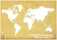 World Map Poster World Map Quote poster Wall Decor by Redpostbox