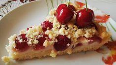 Drobenkový třešňový koláček | NejRecept.cz Pie Recipes, Acai Bowl, French Toast, Oatmeal, Cheesecake, Food And Drink, Treats, Breakfast, Sweet