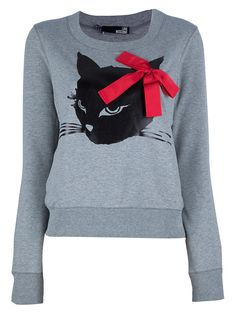 MEOW l Moschino cat-print sweater