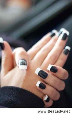 black & white nails. zazumi.com