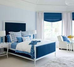 Resultado de imagem para blue bedroom
