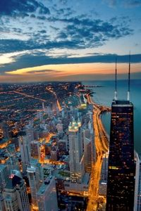 The best views of Chicago can be yours at the John Hancock Observatory! Perched 94 stories above the Windy City, the John Hancock Observatory provides commanding views of Lake Michigan and Chicago's towering skyscrapers, including Willis (Sears) Tower.  www.partner.viator.com/en/11907/tours/Chicago/John-Hancock-Observatory-Admission/d673-5651JHO