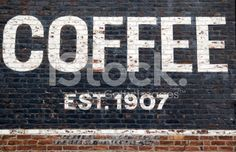 Painted sign on brick wall royalty-free stock photo