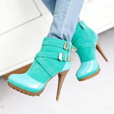 Fantastic Green Round Toe Paillette Stiletto Heel Prom Shoes.