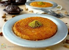 Citra's Home Diary: Künefe Recipe (Turkish sweet cheese kadayif pastry ) Arabic Dessert, Arabic Sweets, Arabic Food, Bulgarian Recipes, Turkish Recipes, Bulgarian Food, Kunafa Recipe, Lebanese Desserts, Famous Desserts