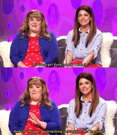 Girlfriend's Talkshow. Aidy Bryant and Cecily Strong