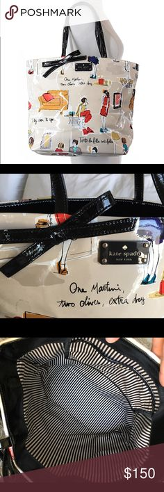 """🎀Kate Spade🎀 Rare Patent Leather Tote Bag Purse Preowned but in very very good condition! There are a few minor marks on the exterior of the bag that honestly blend into the print and the inside is immaculate. No holes or major damage. 14"""" width, 5"""" depth and 12"""" height. One interior pocket. Ships immediately upon receipt of payment. I do bundle so please view my other amazing listings. Thank you. kate spade Bags Totes"""