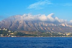 The coastal town of Denia on the Costa Blanca, with Montgo mountain rising up behind it