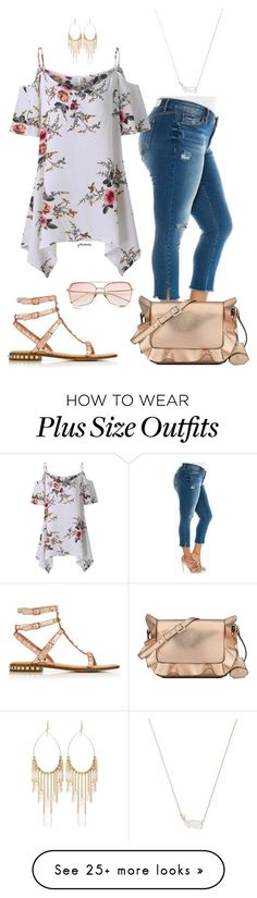 """""""Big girl romantic- plus size"""" by gchamama on Polyvore featuring Slink Jeans, Kendra Scott, Nine West, Ash and White House Black Market"""