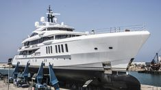 The Spectre is the third custom, James Bond–themed superyacht Benetti has built for U. Yacht For Sale, Boats For Sale, James Bond, Glass Fire Pit, Stucco Homes, House On Stilts, Yacht Design, Yacht Boat, Luxury Yachts