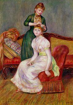Pierre-Auguste Renoir, La Coiffure, 1888, 58 cm x 82 cm, Oil on canvas, Private collection.