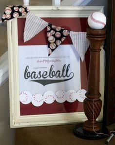 Notable Nest: Baseball Birthday Party