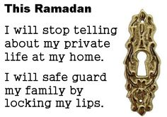 This Ramadan, private, family