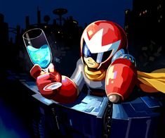 Protoman with Drink