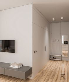 Modern Youthful: 4 Small Apartments With Fierce Style Mid Century Modern Living Room, Small Living Rooms, Living Room Modern, Small Apartment Interior, Flat Interior, Natural Interior, White Wood Kitchens, Futuristisches Design, Internal Design