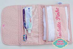 Porta escova de dente e toalha bordada - Gabia Atelier