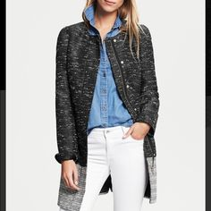 NWT Banana Republic Colorblock Tweed Coat - XSP Brand new with tags. Retails for $175. Size XS petite. Banana Republic Jackets & Coats