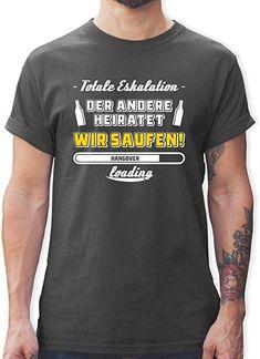97baa56f48bde2 JGA Junggesellenabschied - Totale Eskalation Der andere heiratet Team  Bräutigam - Herren T-Shirt Rundhals