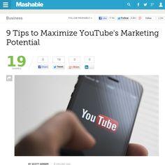 http://mashable.com/2013/06/03/youtube-marketing/ 9 Tips to Maximize YouTubes Marketing Potential   #Indiegogo #fundraising http://igg.me/at/tn5/