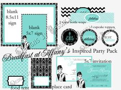 Breakfast at Tiffany's Party Package (PRINTABLE) - Bethany's bridal shower