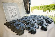 Ceremony sunglasses! great idea for an outdoor wedding.