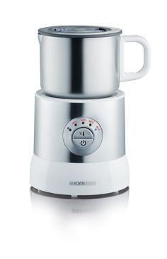 CALENTADOR Y EMULSIONADOR DE LECHE POR INDUCCIÓN 9685  Potencia 500 W.  Capacidad aprox. 700 ml  Nº EAN 4008146968501  Vaso emulsionador de acero inoxidable desmontable, conector de 360° para un fácil uso.  Por inducción.  Sirve para espumar 100 - 350 ml de leche y para calentar 100 - 700 ml de leche.  Cuatro niveles de temperatura para calentar leche: 45°C - 55°C - 60 °C - 65°C.  Luz piloto LED para indicar el nivel de temperatura seleccionado.  Más información pinchando la fotografía.