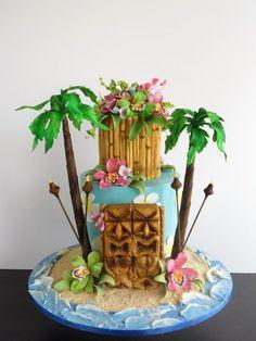 Tiki cake by Rick Reichart of Cakelava.