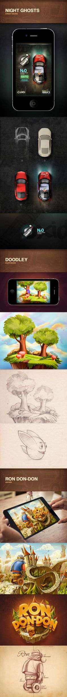 Portfolio 2012-2013 | iOS Games by Mike , via Behance
