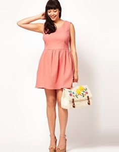 bbcdafe794278 ASOS CURVE Exclusive Sleeveless Dress With Bow Back Bow Back