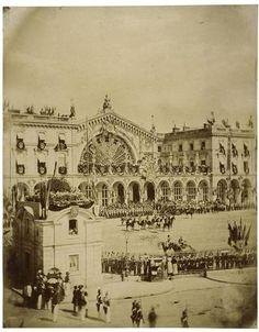 Arrivée de la reine Victoria à la gare de l'Est, le 18 août 1855