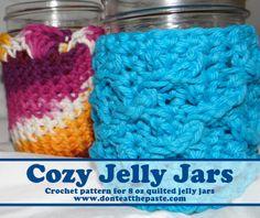 Don't Eat the Paste: Cozy Jelly Jars Crochet Pattern