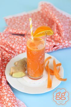 Beverone di carote, arance e zenzero