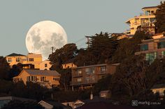 Supermoon rises over Wellington, New Zealand by Mark Gee on 500px