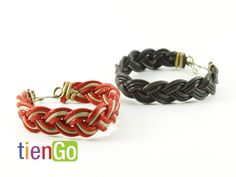 Brazalete de cuerina trenzado  $5.00 Handmade Bracelets, Artisan, Salvador, Jewelry, Bracelet, Hand Made, Bangle Bracelets, Savior, Jewlery