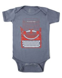 Perfect fit for the son of two writers! SO MY STORY BEGINS BABYSUIT     UncommonGoods