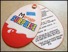 Faire-part créatif kinder surprise pour votre mariage gourmand