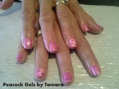 Breast Cancer Awareness Manicure Nail Art!