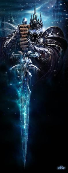 World of Warcraft art. Fall of the Lich King. Dark Knight with a huge sword. Amazing armor detail. WoW. Fantasy. #undonestar