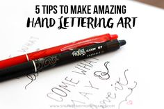 I'm giving you 5 Tips to Make AMAZING Hand Lettering Art and it works even if you don't think you're artistic!