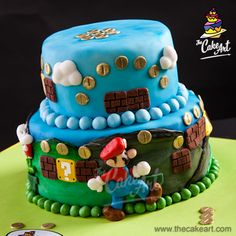 Pastel Mario Bros. (3D) 01 | thecakeart.com