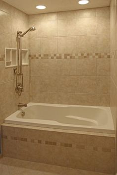 Luxurious Large Bathroom With Alcove Soaking Bathtub Shower Combo - Alcove tub shower combo