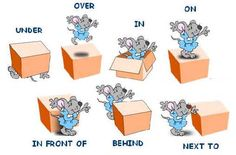 Prepositions of position English lesson