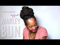 ▶ My First Marley Bun [Tutorial] (95) - YouTube